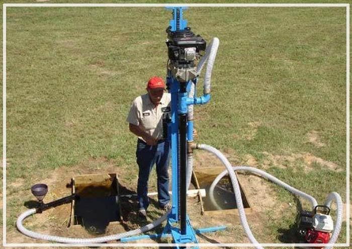 скважина на воду принцип работы схема