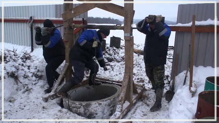 рытье колодцев зимой