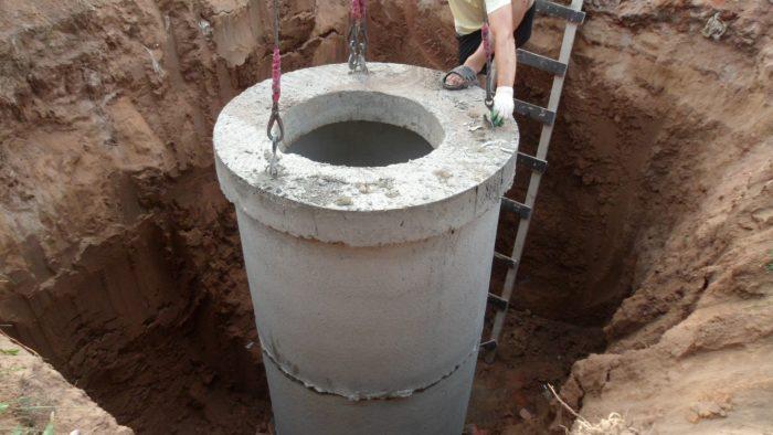 как сделать колодец для канализации