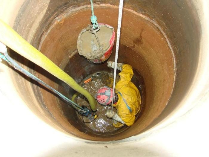 ремонт колодца с помощью пластиковых колец
