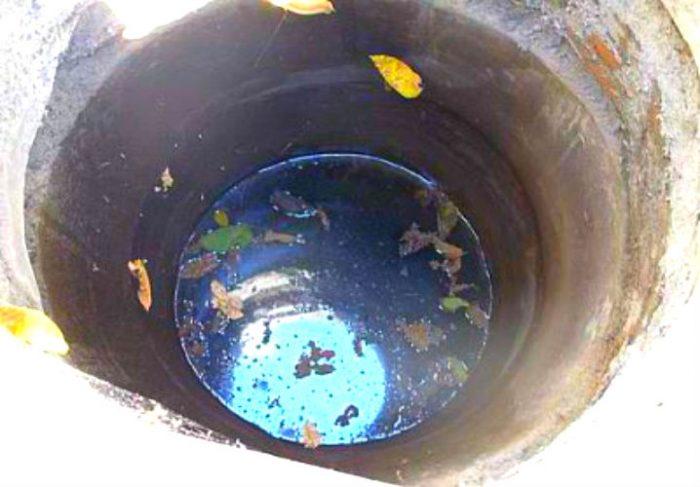 загрязнение колодца