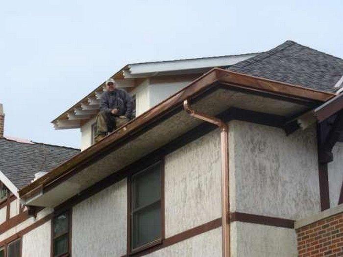 Ливневка для крыши своими руками