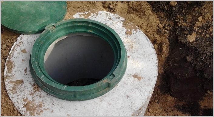 септик для дома из бетонных колец