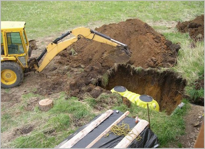 монтаж септика из пвх в яму