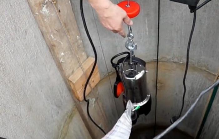 откачка воды из колодца