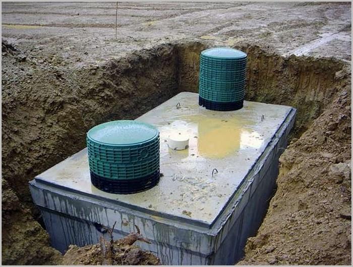 пример бетонного септика