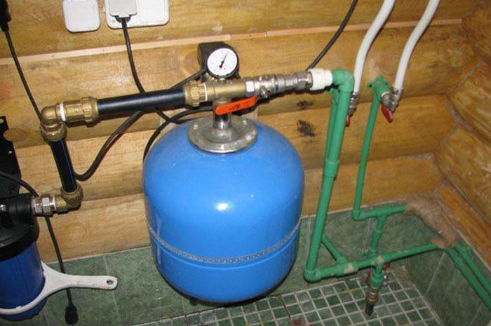 схема подключения насосной станции к центральному водопроводу