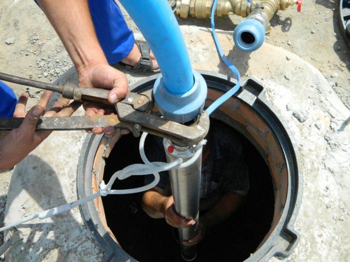 замена насоса в скважине на воду