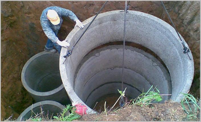 септик из бетонных колец жби