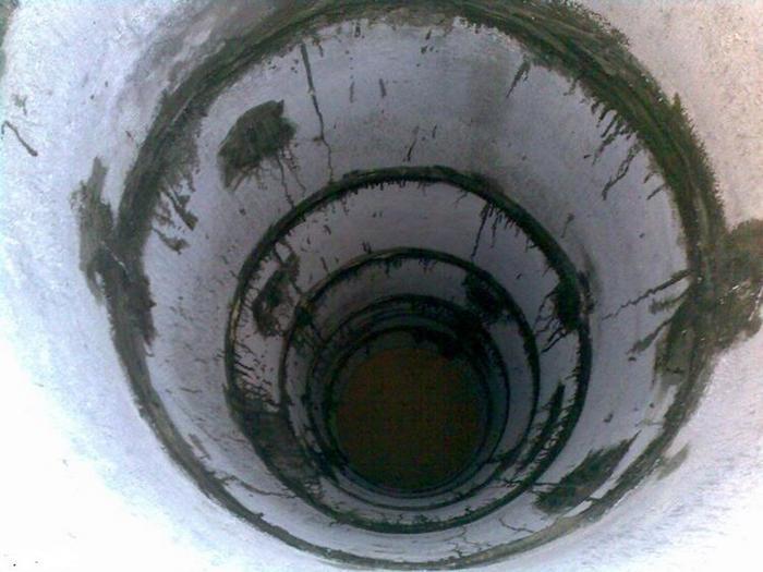 септик из бетонных колец схема
