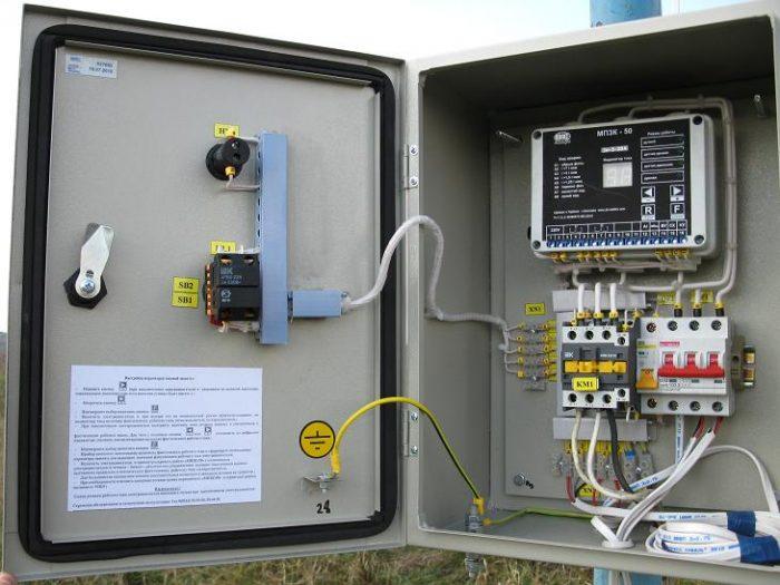 станция управления скважинным насосом