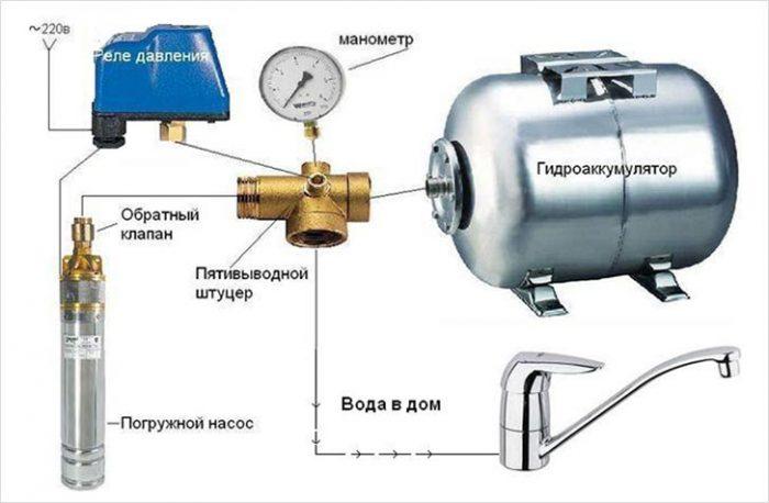 реле давления воды для насоса схема подключения