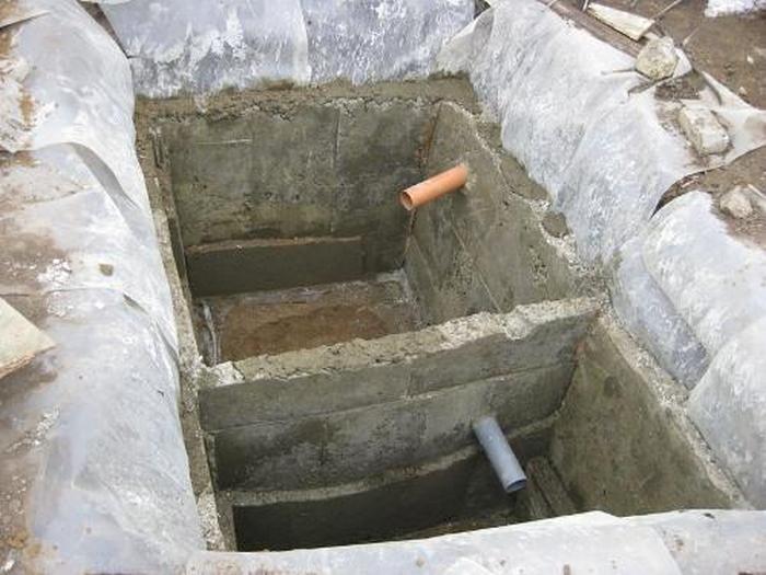 устройство бетонного септика