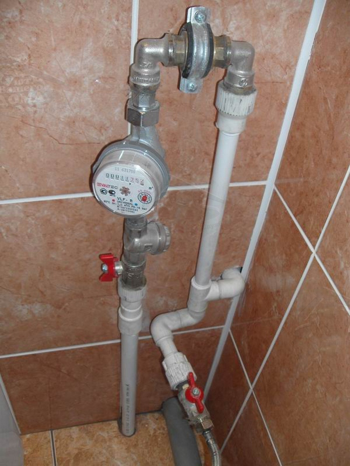 Схема подключения счетчика воды