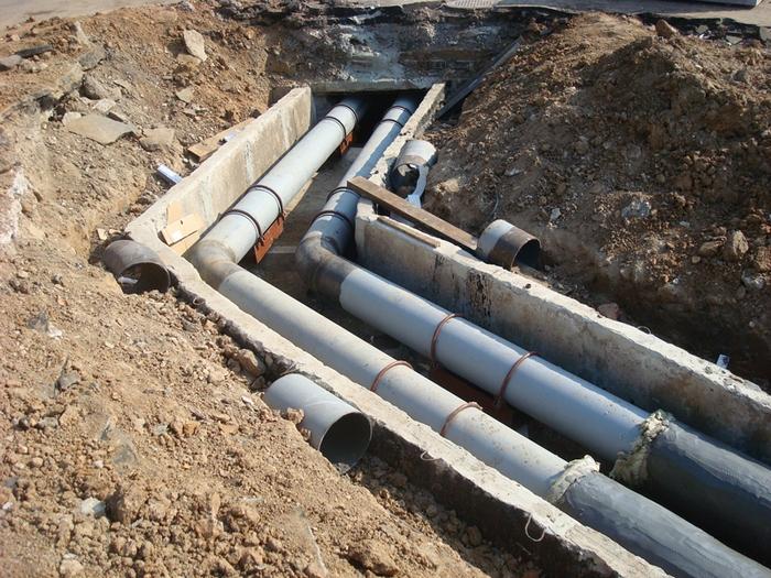 глубина прокладки канализации
