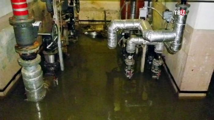 в подвале прорвало канализацию куда жаловаться
