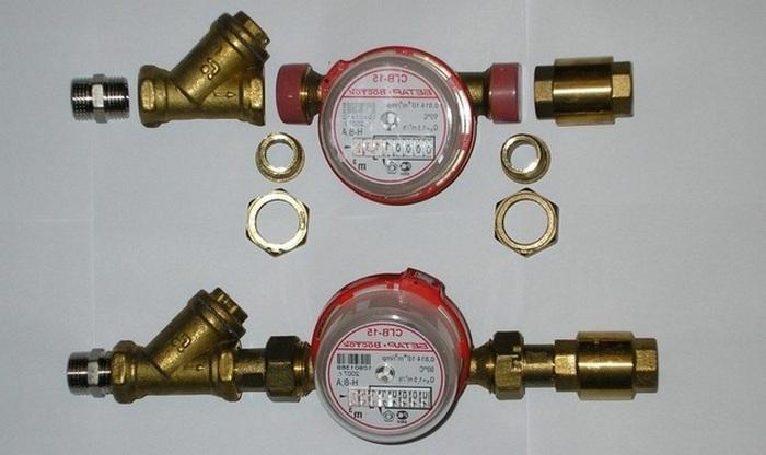 счетчики на воду схема установки