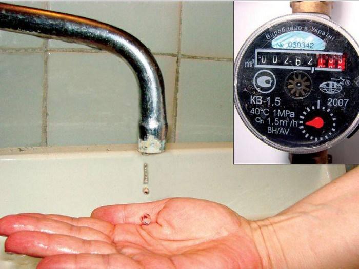 как проверить водяной счетчик