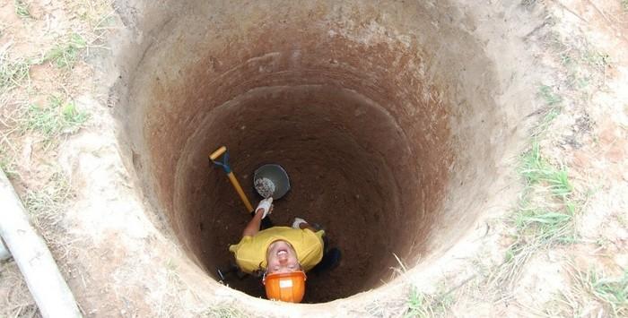 выгребная яма из бетонных колец без откачки