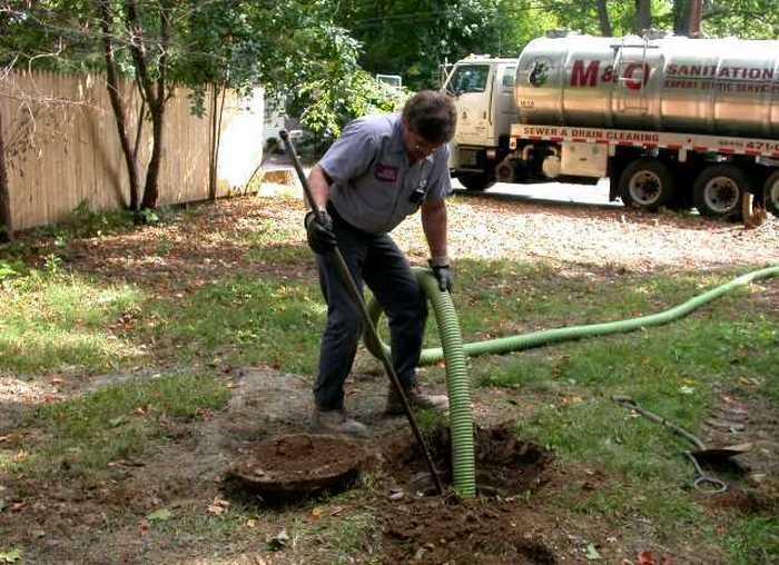 откачка канализации из люка