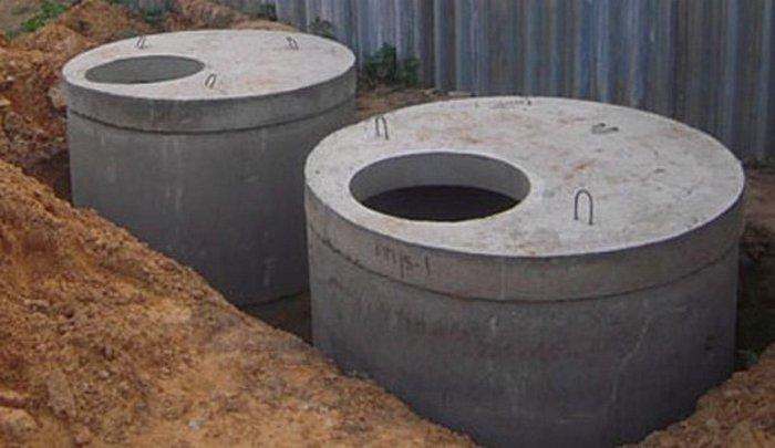 септики из бетонных колец устройство