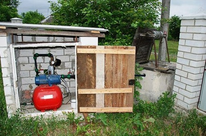 водопровод на даче с насосной станцией