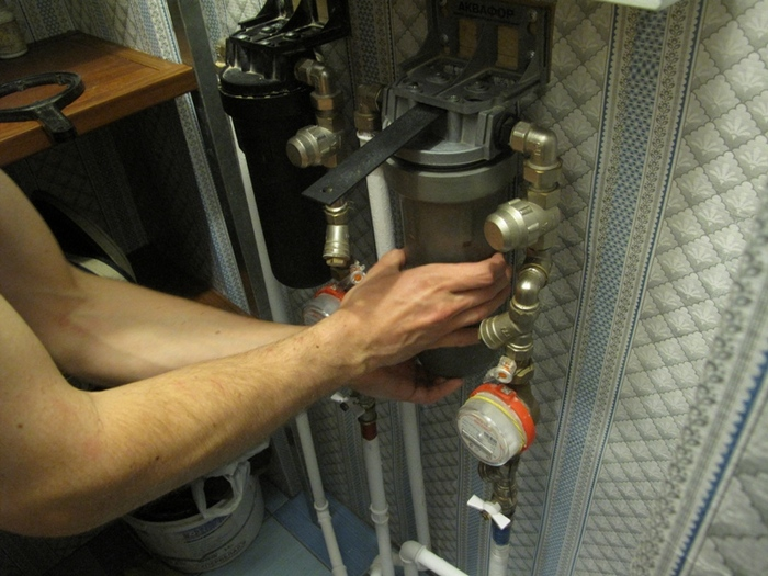 очистка фильтров водосчетчиков