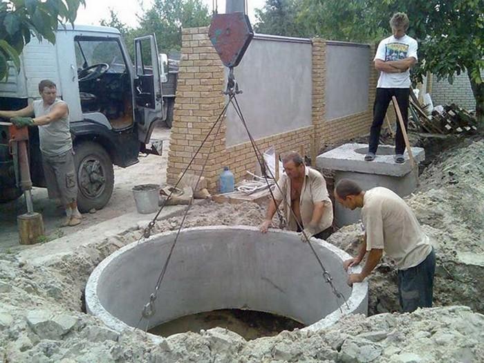бетонные кольца для сливной ямы
