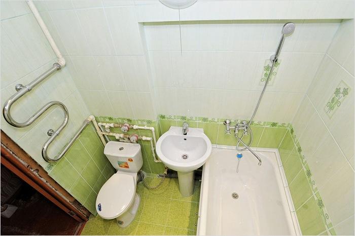 разводка в ванной