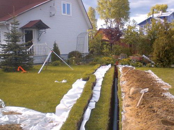 Прокладка канализации