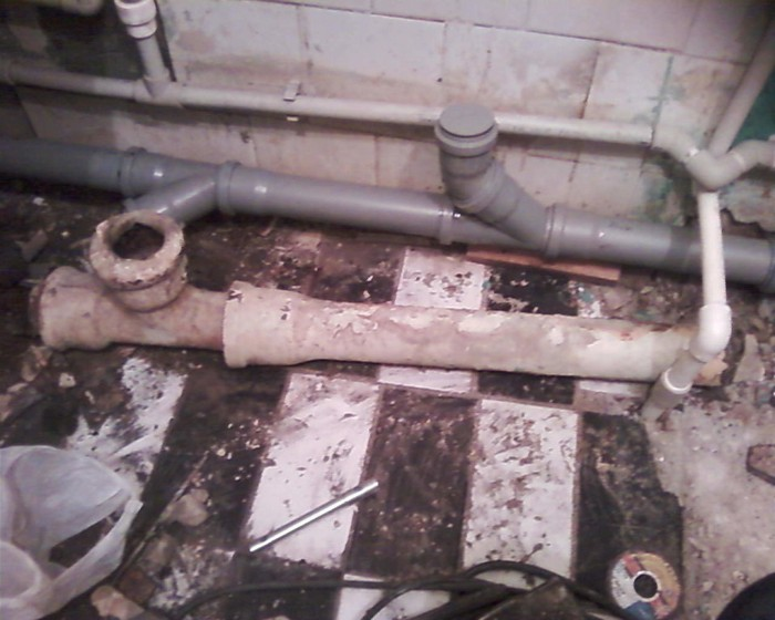 замена канализации в доме