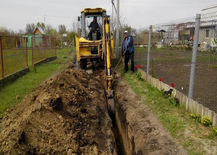 ширина траншеи канализация