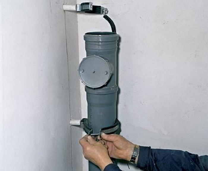 замена трубы канализации