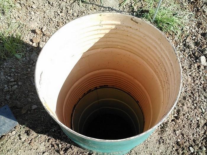 простейшая канализация на даче