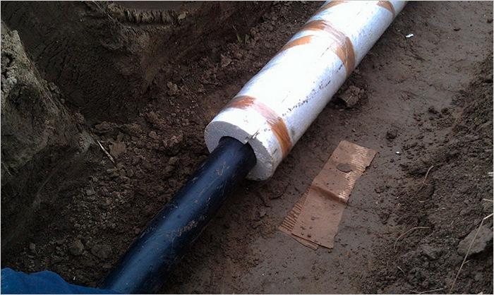 труба канализационная утепленная