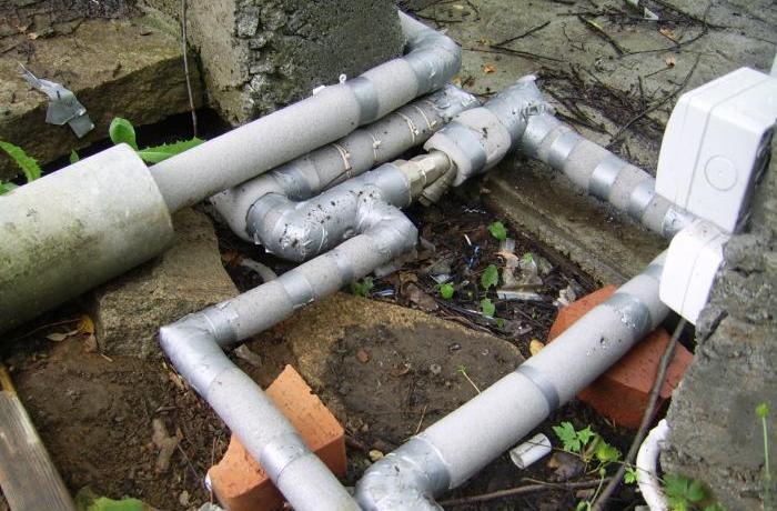 как утеплять трубы водоснабжения
