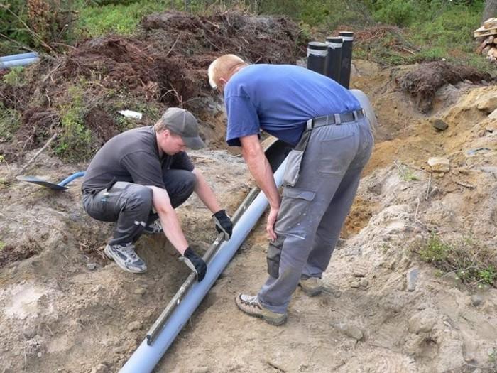 правильный уклон канализационной трубы