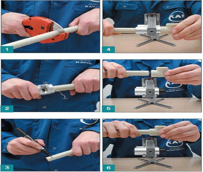 пошаговая инструкция по спайке пластиковых труб