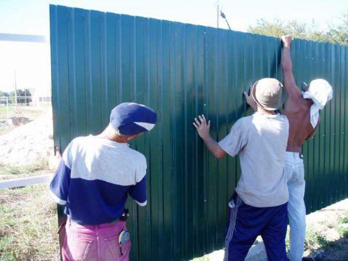 забор из профнастила запретили в 2018 году