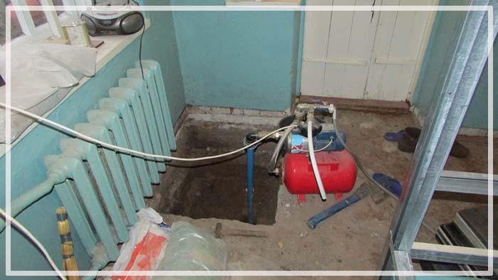 скважина под домом