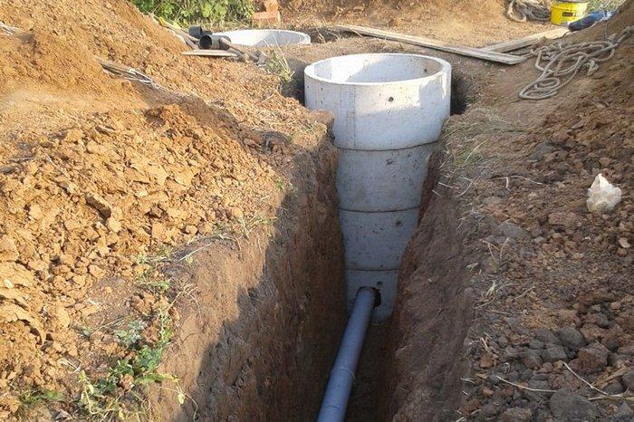 глубина канализации