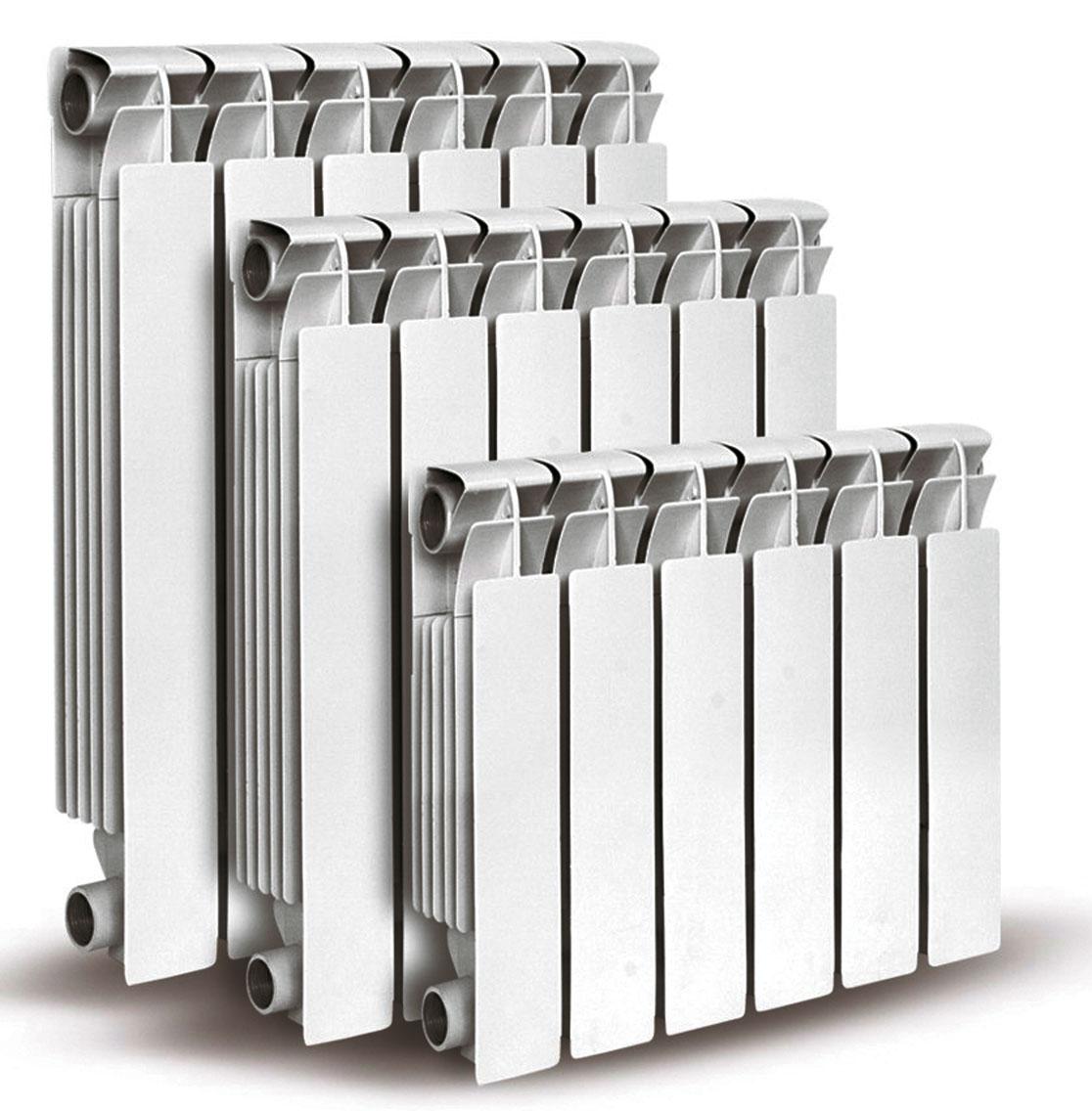 размеры алюминиевых радиаторов