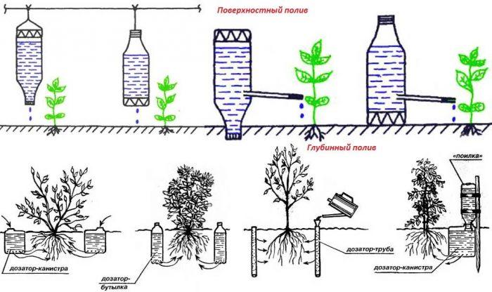 варианты полива огорода