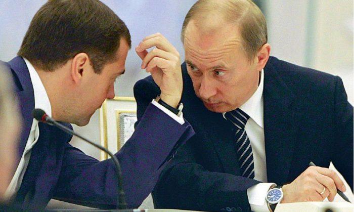 Путин конфликтует с медведевым