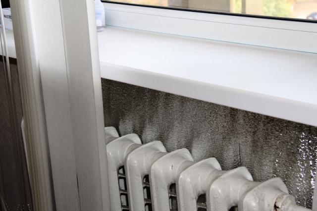 отражатель на стену за радиатором