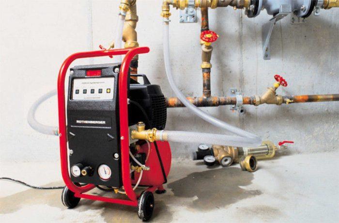 гидроиспытания системы отопления