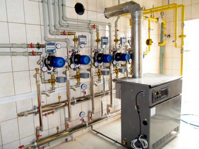 монтаж автоматики парового отопления