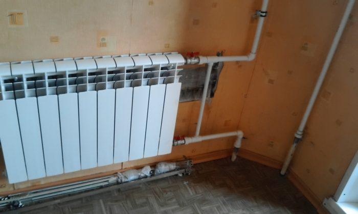 монтаж новых радиаторов