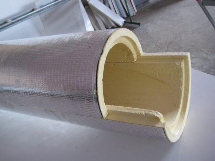 ППУ-скорлупа с внешним фольгированным покрытием
