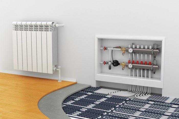 радиаторы и теплый пол